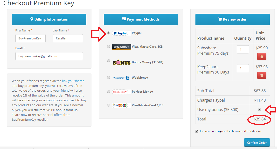 Buy premium key, premium account, voucher at buypremiumkey reseller
