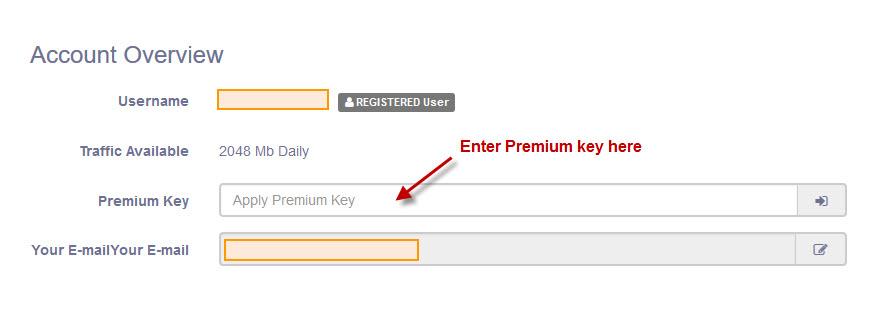 Activate Subyshare Premium key/code