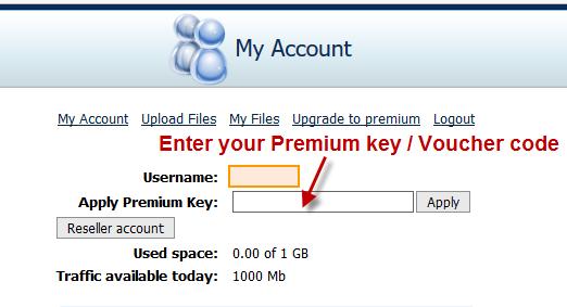 Activate Fireget Premium key