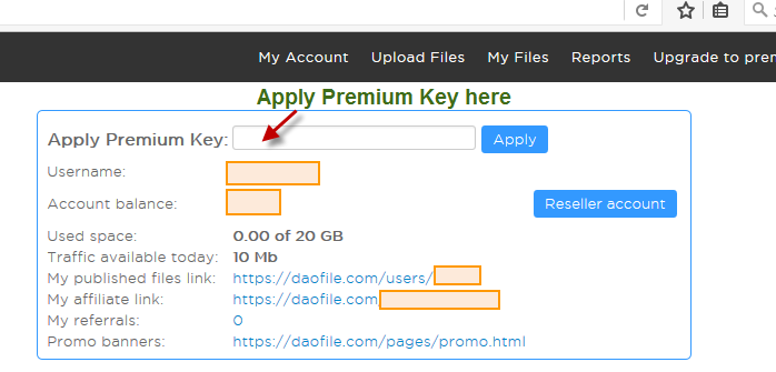 How to activate Daofile Premium Key | BuyPremiumKey Com Reseller
