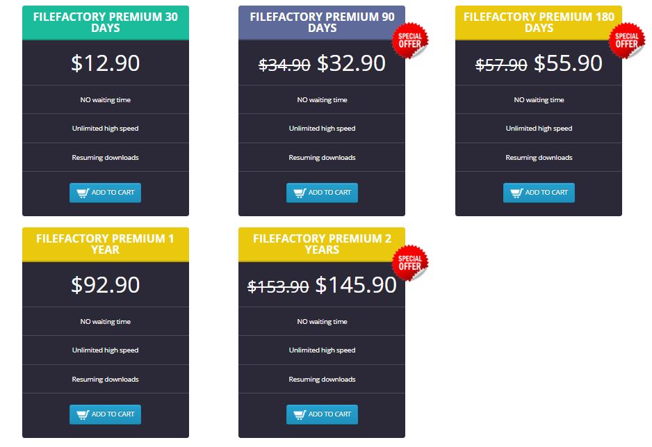 Filefactory Premium Account | Buy Premium Key via Paypal get