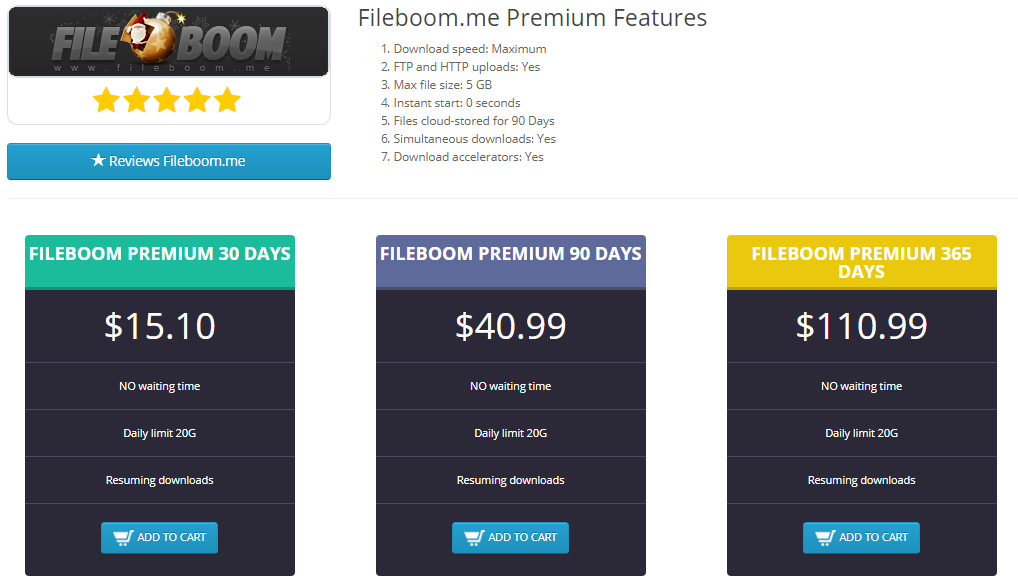 Fileboom Premium Key 30 days | Buy fileboom me premium get 2% bonus